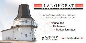 Langhorst Bauunternehmen | seit über 20 Jahren